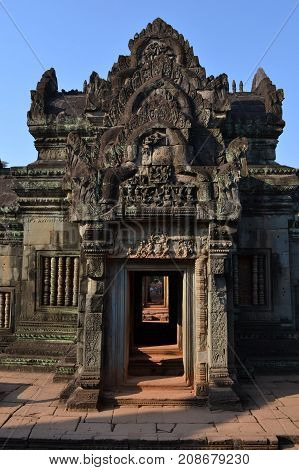 Closer To The Temple Around Banteay Srei Still In Siem Reap - Cambodia. Regarded As One Of The Most