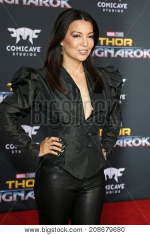 Ming-Na Wen at the World premiere of 'Thor: Ragnarok' held at the El Capitan Theatre in Hollywood, USA on October 10, 2017.