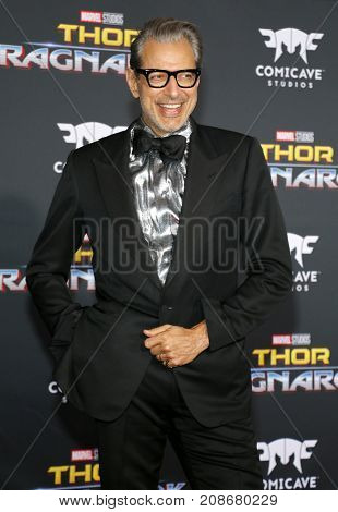 Jeff Goldblum at the World premiere of 'Thor: Ragnarok' held at the El Capitan Theatre in Hollywood, USA on October 10, 2017.