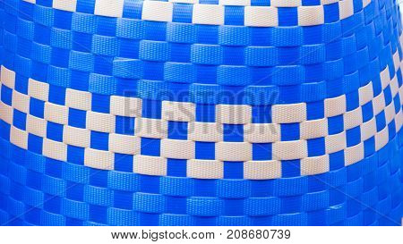 Close up of Colorful basket weave pattern