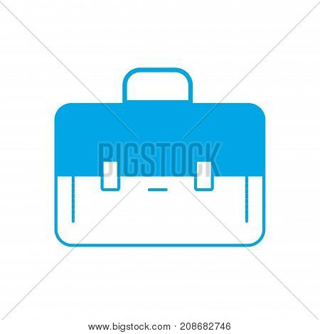 silhouette elegant briefcase to save business documents vector illustration