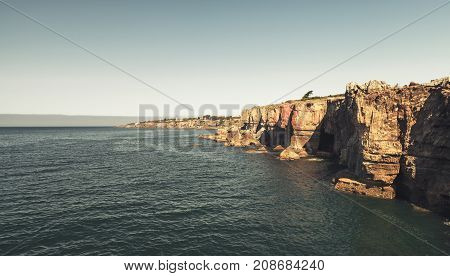 Hell's Mouth Chasm Located In Cliffs Of Cascais