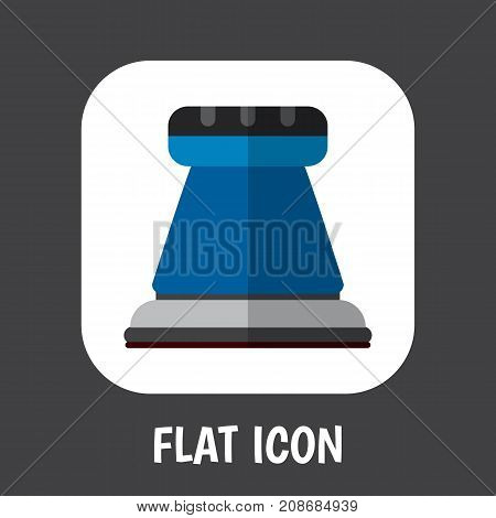 Vector Illustration Of Electrical Symbol On Sandpaper Flat Icon