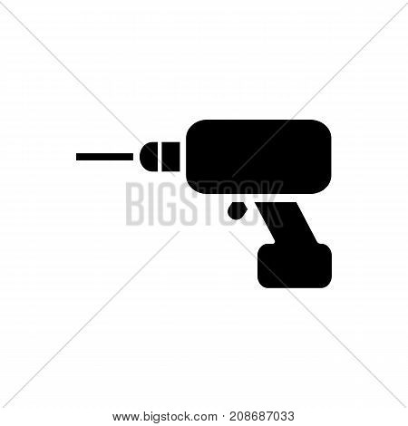 Icon of cordless screwdriver. Manual, driving, removing. Tools concept. Can be used for topics like manual work, home repair, diy
