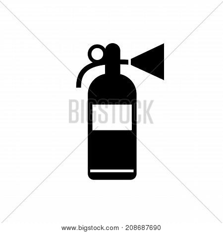Icon of fire extinguisher. Device, handhold, firefighting. Safety signs concept. Can be used for topics like fire protection, emergency situation, home security, chemistry laboratory