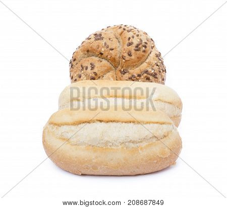 French bun isolated on a white background