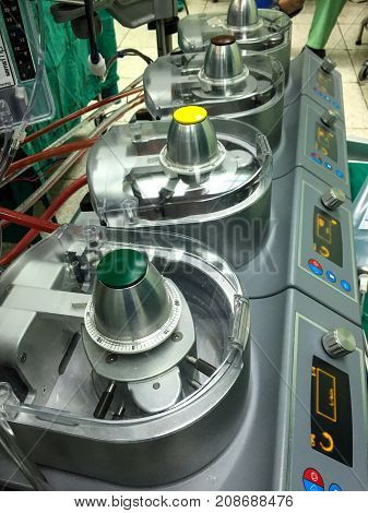 Heart lung machine for heart surgery in operating room