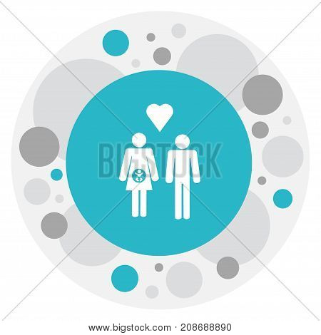 Vector Illustration Of Heart Symbol On Lineage Icon