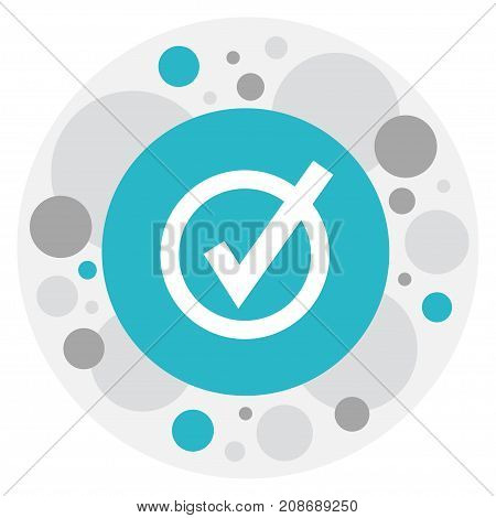 Vector Illustration Of Web Symbol On Check Icon
