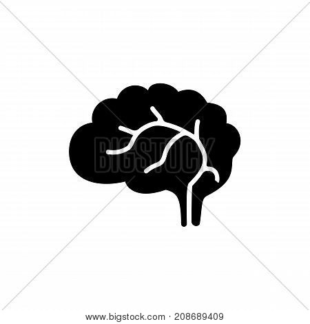 Icon of human brain. Organ, knowledge, medicine. Body part concept. Can be used for topics like anatomy, neurology, creativity
