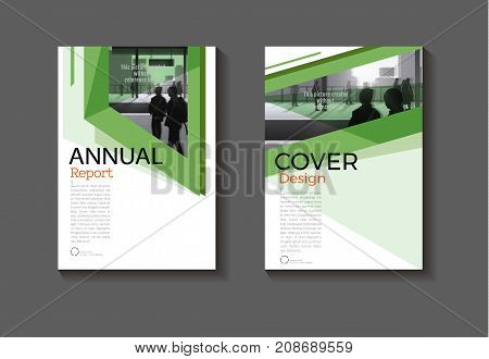 green abstract cover design modern book cover abstract Brochure cover templateannual report magazine and flyer layout Vector a4.jpg