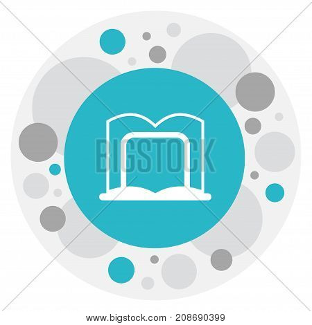 Vector Illustration Of Science Symbol On Dictionary Stand Icon