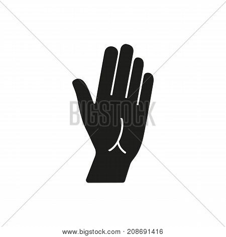 Icon of human skin. Palm, hand, gesture. Body part concept. Can be used for topics like anatomy, communication, chiromancy