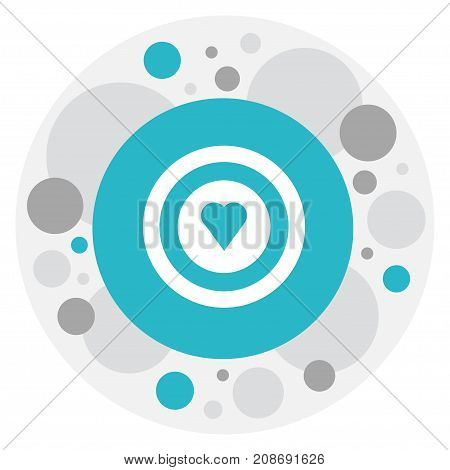 Vector Illustration Of Heart Symbol On Target Icon