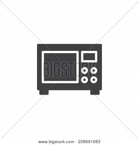 Microwave icon vector, filled flat sign, solid pictogram isolated on white. Symbol, logo illustration.