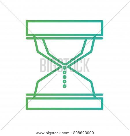 line hourglass object to know the time vector illustration