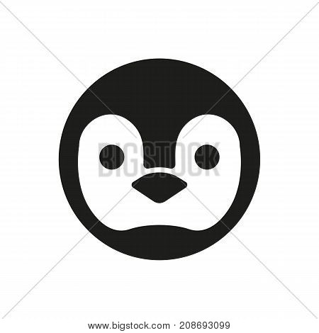 Icon of penguin head. Bird, Antarctica, animal. Biology concept. Can be used for topics like nature, zoo, wildlife