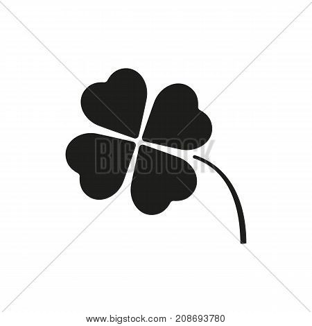 Icon of shamrock leaf. Plank, festival, luck. Bio concept. Can be used for topics like nature, fauna, Saint Patricks day