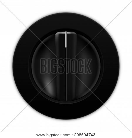 Universal blank selector. Car dashboard black switch. Vector illustration isolated on white background