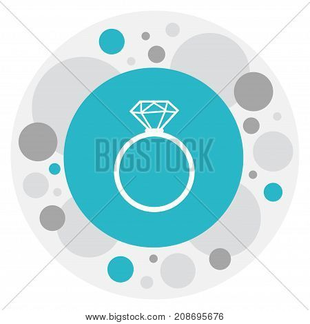Vector Illustration Of Kin Symbol On Ring Icon