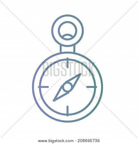 line compass object geography to know the direction vector illustration