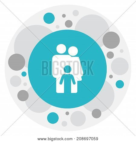 Vector Illustration Of Relatives Symbol On Family Icon