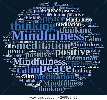 Mindfulness Concept Illustration With Word.