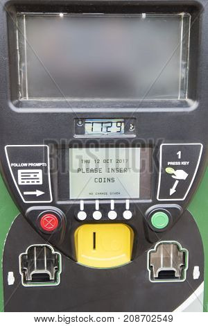 Parking meter,Car park charge machine and Ticket dispenser