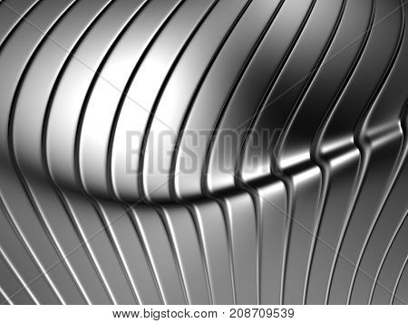 Silver abstract metal background