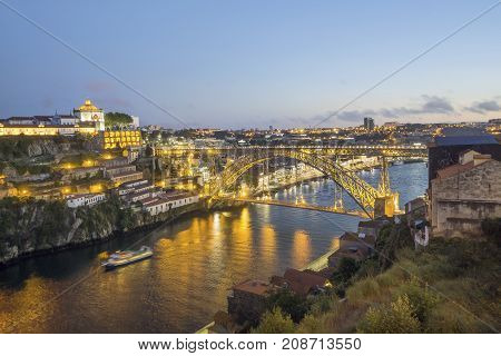 Amazing City Of Porto With Eiffel's Bridge, Portugal