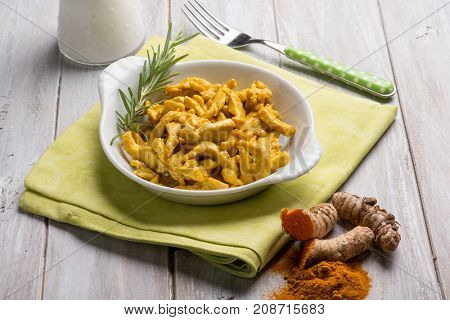 chicken with turmeric spice and coconuts milk