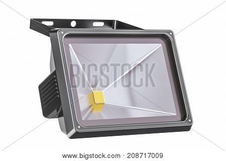 LED spotlight 3D rendering isolated on white background