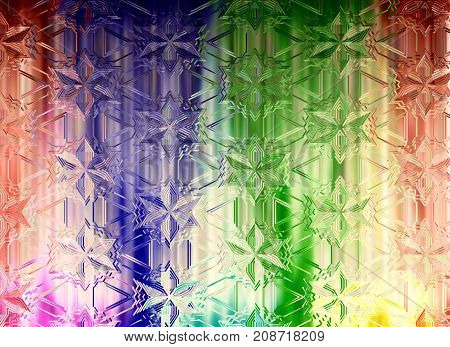 Abstract multicolored flower shape pattern as background.Digitally generated image.