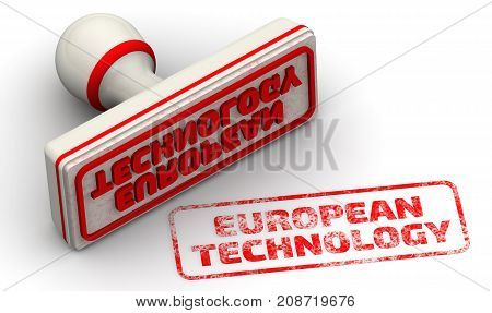 European technology. Red seal and imprint