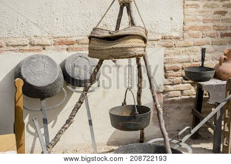 Cook tools and utensils of medieval agriculture, ancient European farming instruments