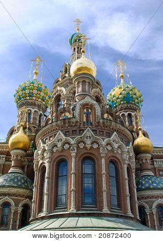Temple Spas-na-krovi. Russia, St.petersburg.