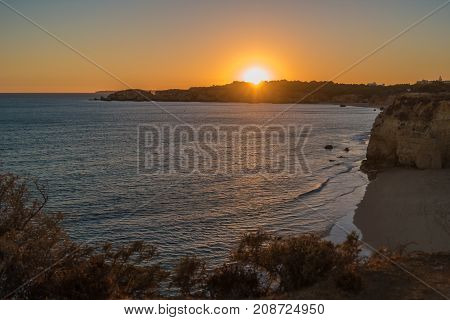 A view of a Praia da Rocha in Portimao Algarve region Portugal