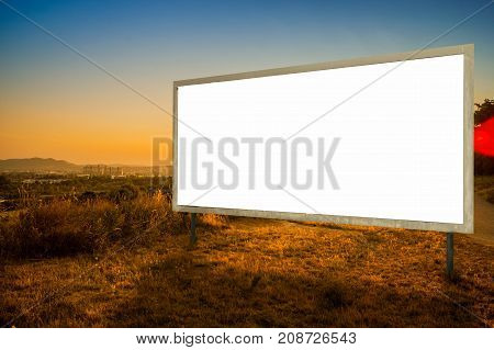Billboard Ad Advertisement clipping path white background