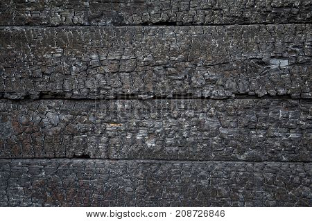 Charred Wall As A Background