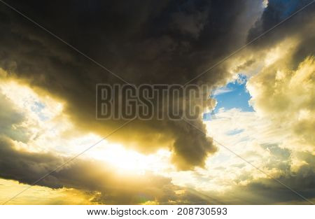 Sunshine Breaking Heavenly Scene