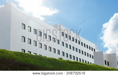 Generic Building With Blue Sky.