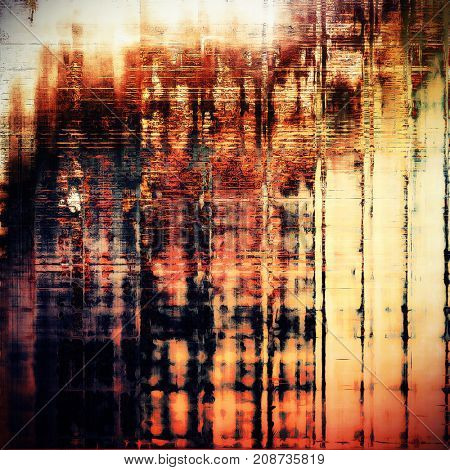 Old style design, textured grunge background with different color patterns