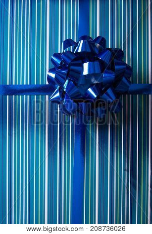 a christmas birthday gift present background with nobody.