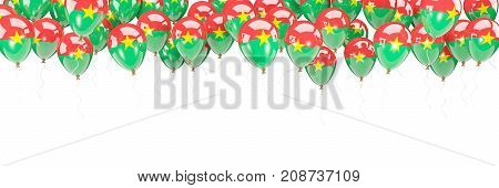 Balloons Frame With Flag Of Burkina Faso