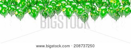 Balloons Frame With Flag Of Cocos Islands
