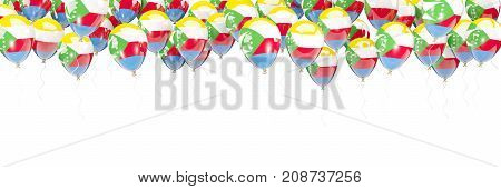 Balloons Frame With Flag Of Comoros