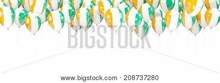Balloons Frame With Flag Of Cote D Ivoire