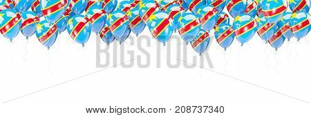 Balloons Frame With Flag Of Democratic Republic Of The Congo