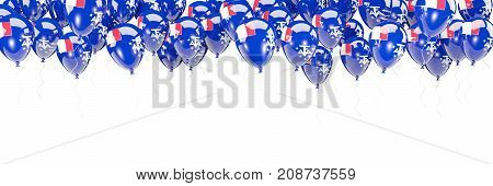 Balloons Frame With Flag Of French Southern Territories
