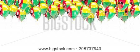Balloons Frame With Flag Of Guinea Bissau